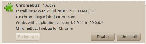 ChromeBug 1.6.0a9
